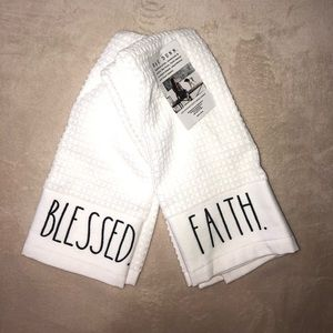 Rae Dunn Blessed and Faith Hand Towels